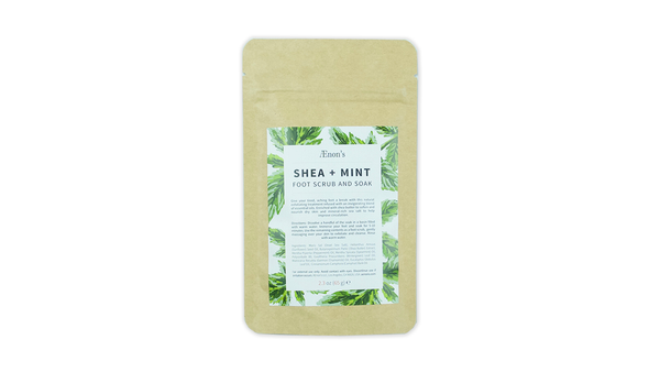 Shea and Mint Foot Scrub