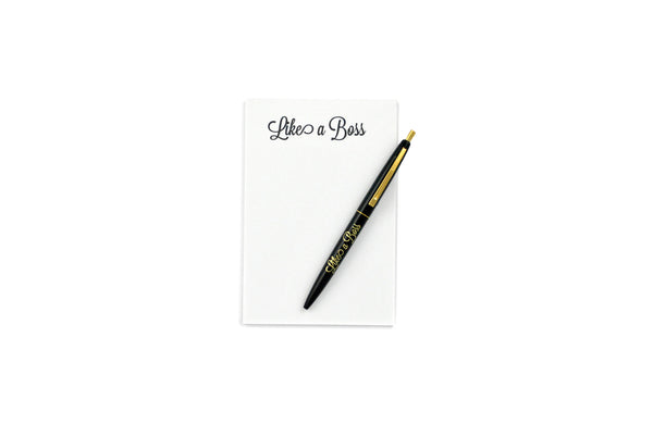 Like a Boss Notepad and Pen