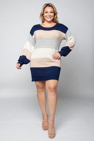 Comfy, Cozy, Curvy Sweater Dress 1 - JQ Clothing Co. - Oakes, ND