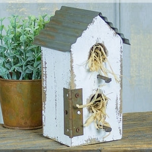 Small Tall Rustic Birdhouse