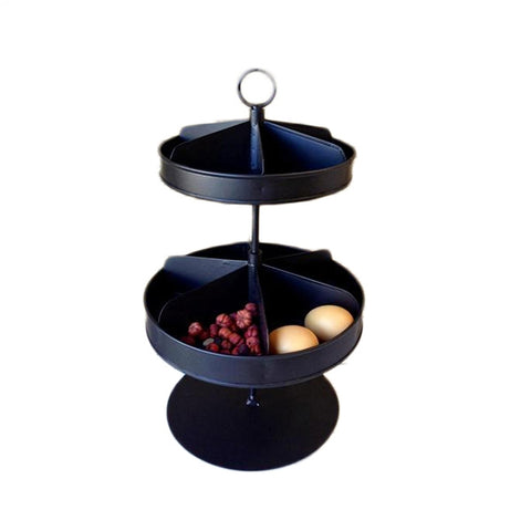 Black Rotating Tray