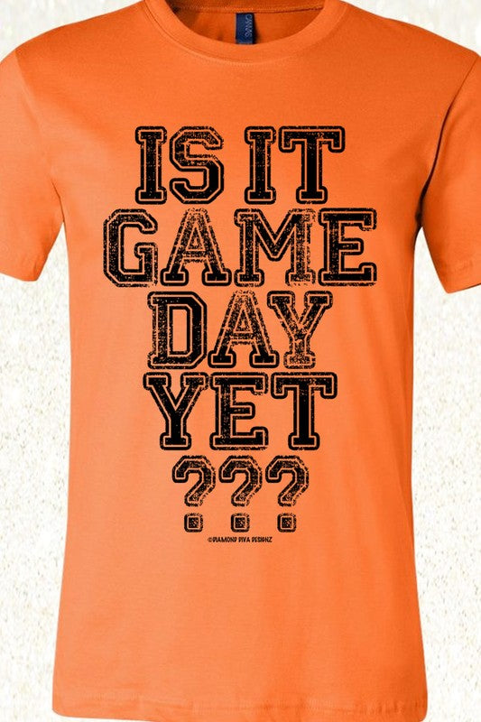 Orange & Black Is it Game Day Tee 2 - The Loft on Main - Oakes ND