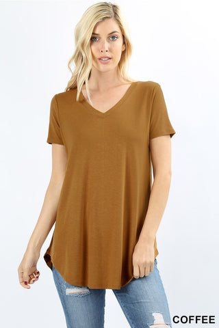 Basic V-Neck Solid Tee 1 - The Loft on Main - Oakes ND