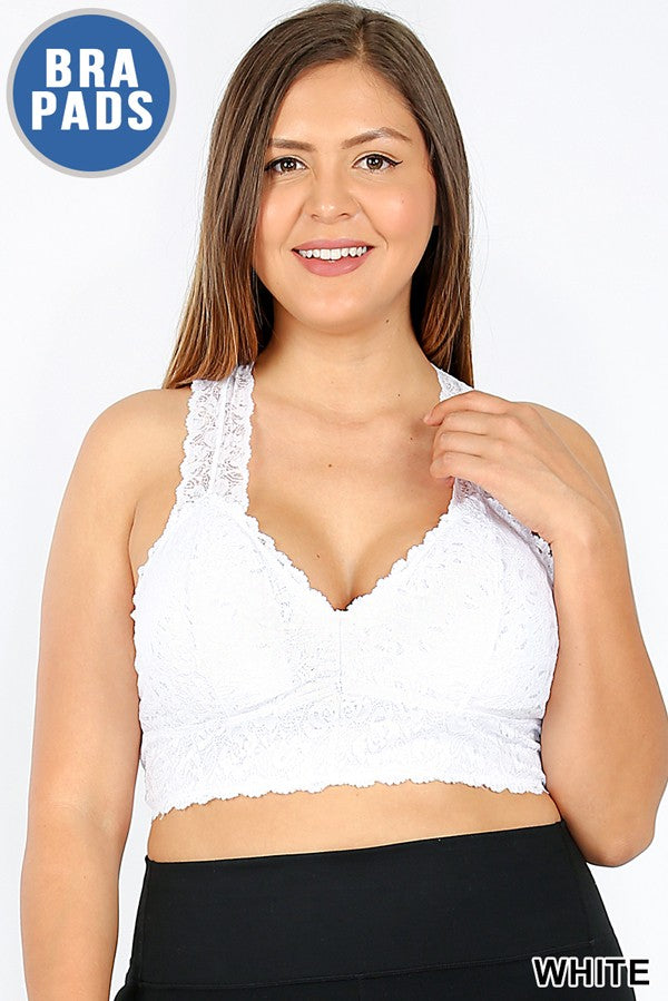 Curvy Stretch Lace Bralette
