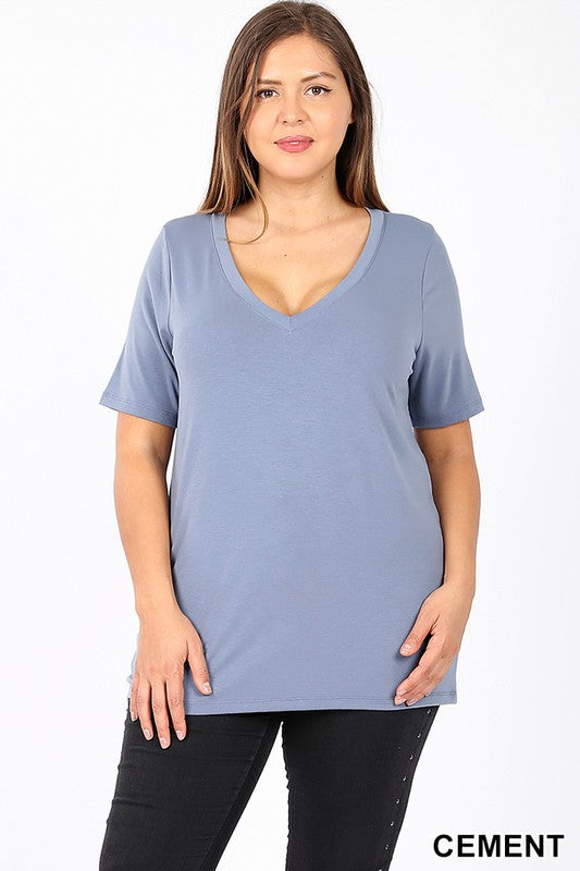 The Curvy Basic Top 4 - JQ Clothing Co. - Oakes, ND