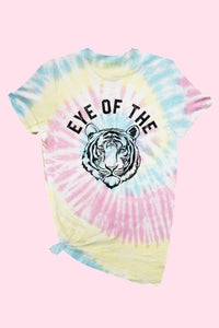 Eye of the Tiger Tie Dye Tee 2 - JQ Clothing Co. - Oakes ND
