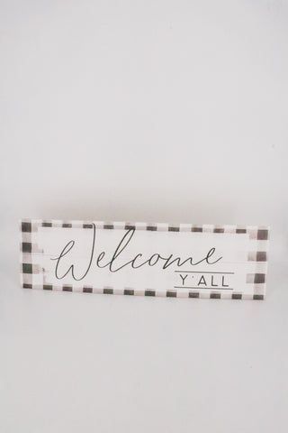Welcome Y'all Sign 1 - JQ Clothing Co. - Oakes, ND