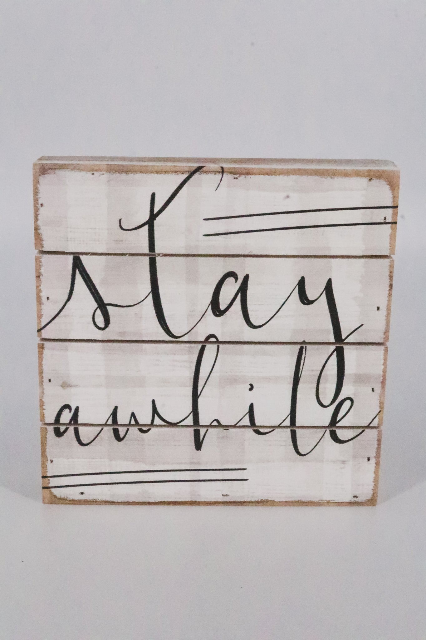 Stay Awhile Mini Shiplap Sign 1 - JQ Clothing Co. - Oakes, ND