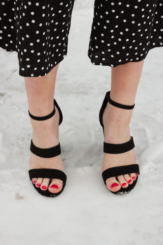 Chunky Black Sandal 1 - JQ Clothing Co. - Oakes ND