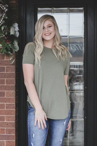 Favorite Basic Round Hem Top 1 - JQ Clothing Co. - Oakes ND