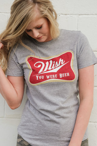 Wish You Were Beer Graphic - JQ Clothing Co. - Oakes ND