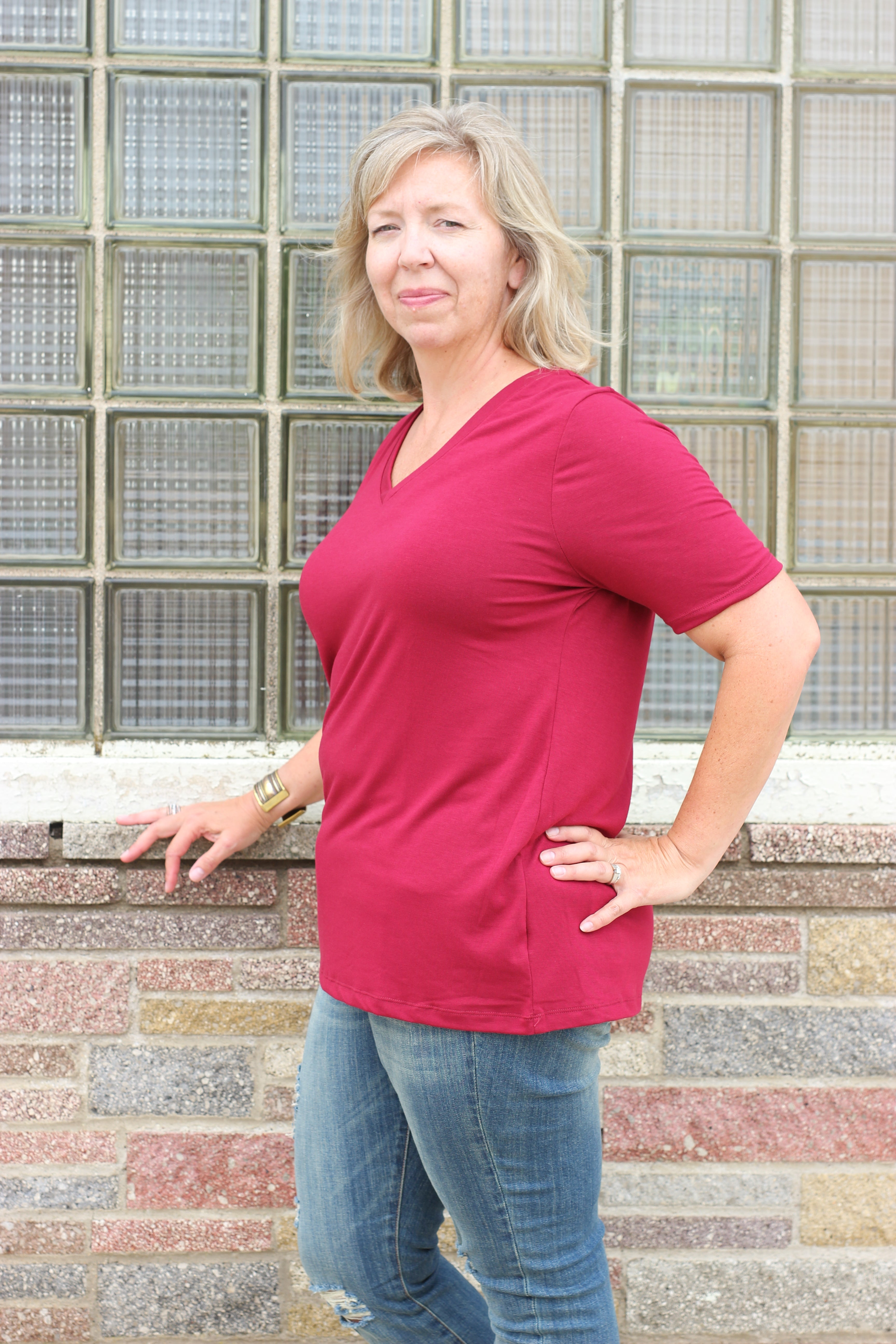 The Curvy Basic Top 2 - JQ Clothing Co. - Oakes ND