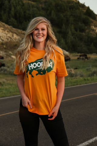 Hoofda Classic Bison Tee 1 - JQ Clothing Co. - Oakes, ND