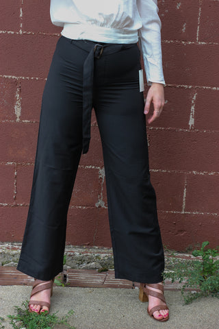 Black & Belted High Waist Pants 1 - JQ Clothing Co. - Oakes ND