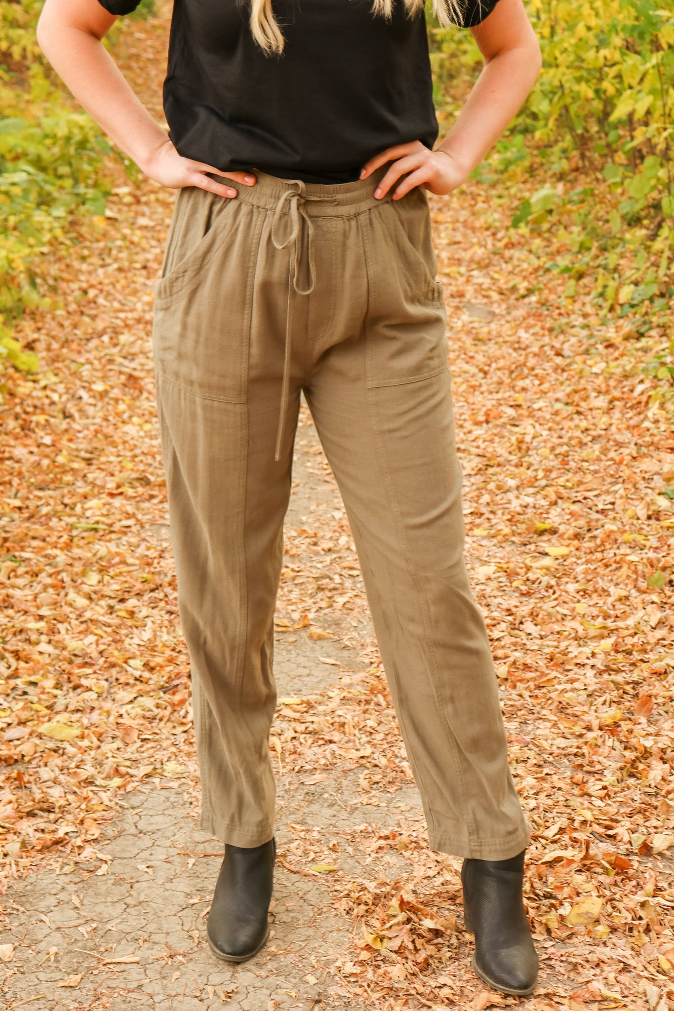 Olive These Pants 1 - JQ Clothing Co. - Oakes ND