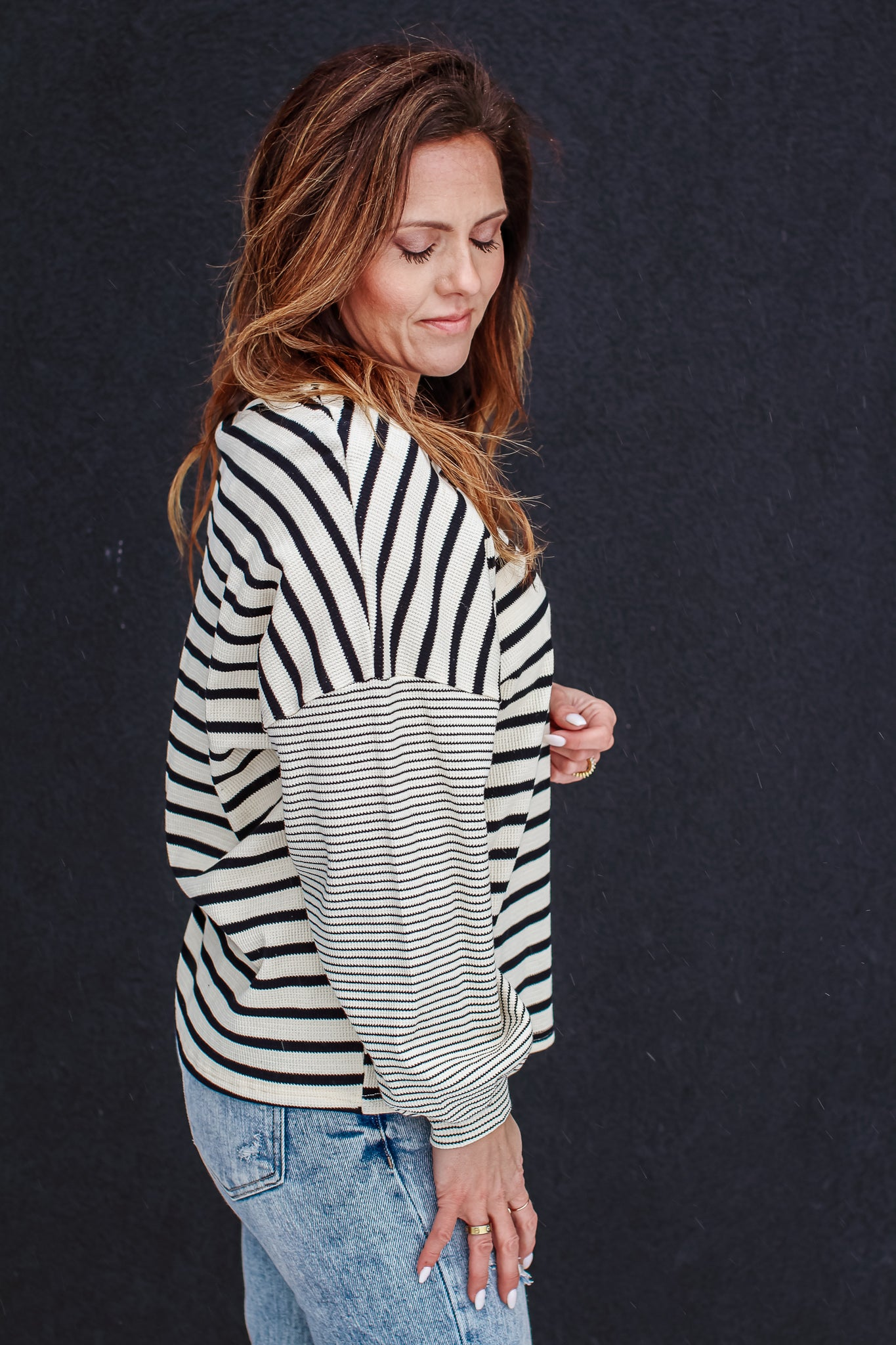 Black Flared Knit Trouser 1 - JQ Clothing Co. - Oakes ND