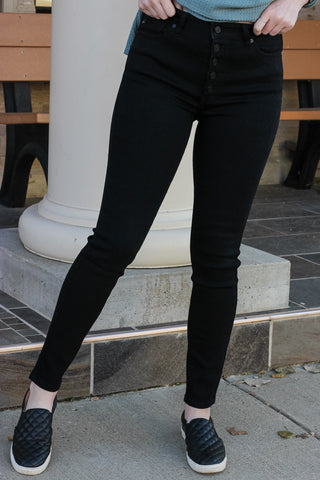 KanCan High Rise Black Skinny Jeans 1 - JQ Clothing Co. - Oakes ND