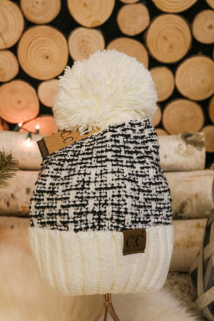 Snowflake Pom Beanie 2 - JQ Clothing Co. - Oakes, ND