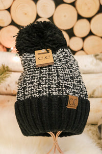 Snowflake Pom Beanie 3 - JQ Clothing Co. - Oakes, ND