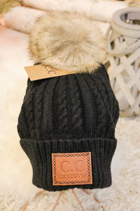 Caroling Fur Pom Beanie 2 - JQ Clothing Co. - Oakes, ND
