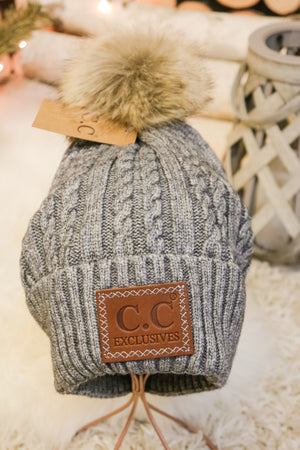 Caroling Fur Pom Beanie 3 - JQ Clothing Co. - Oakes, ND