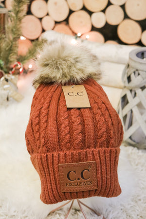 Caroling Fur Pom Beanie 4 - JQ Clothing Co. - Oakes, ND