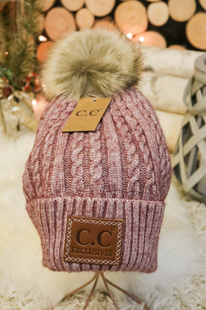Caroling Fur Pom Beanie 1 - JQ Clothing Co. - Oakes, ND