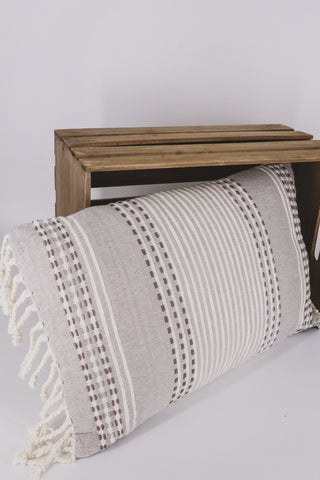 Hand Woven Nila Pillow Gray 1 - JQ Clothing Co. - Oakes, ND