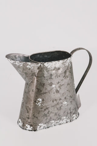 Rustic Galvanized Metal Pitcher Decor 1 - JQ Clothing Co. - Oakes, ND