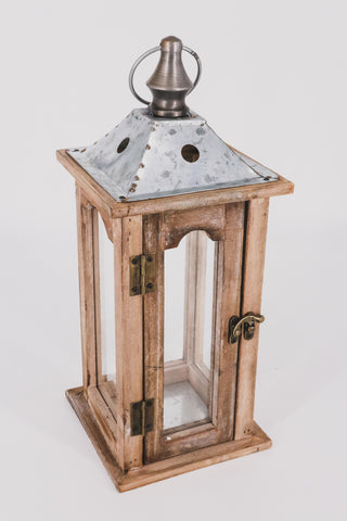 Wood/Galvanized Metal Lantern 1 - JQ Clothing Co. - Oakes, ND