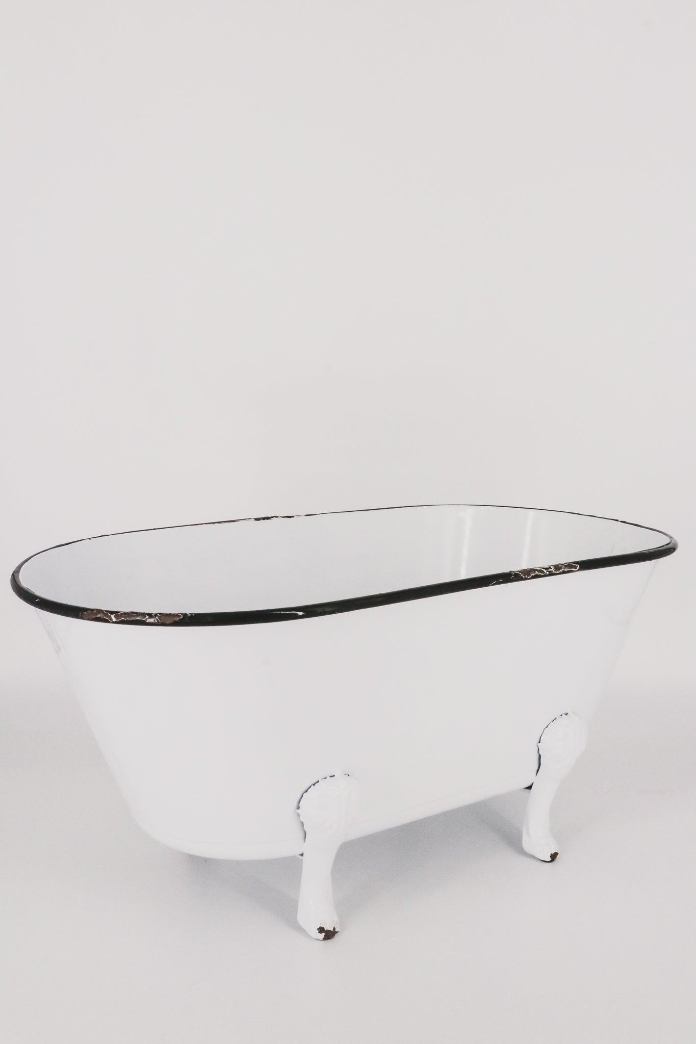 White Enamel Deco Bathtub 1 - JQ Clothing Co. - Oakes, ND