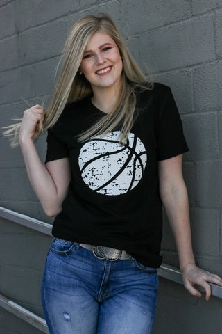 Basketball V-Neck Graphic Tee 1 - JQ Clothing Co. - Oakes ND
