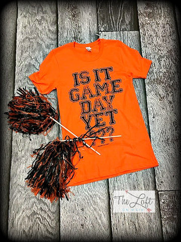 Orange & Black Is it Game Day Tee 1 - The Loft on Main - Oakes ND