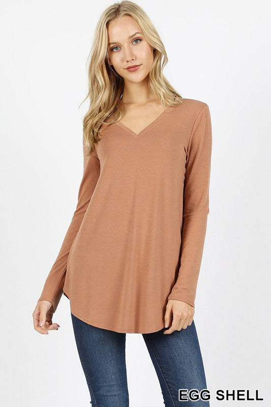 Beautiful Basic Round Hem Top