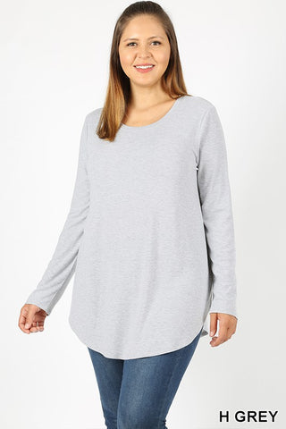 The Perfect Long Sleeve Curvy Tee 1 - JQ Clothing Co. - Oakes ND