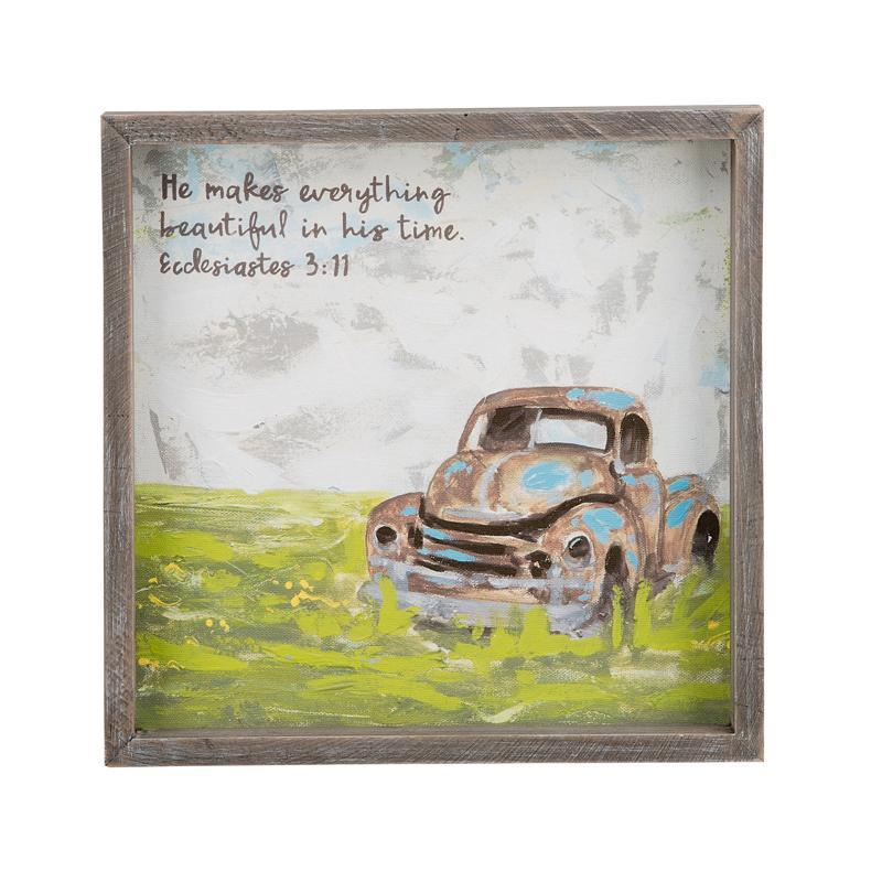 Everything Beautiful Framed Canvas