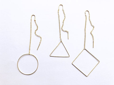 Geo Threader Earrings 1 - JQ Clothing Co. - Oakes, ND