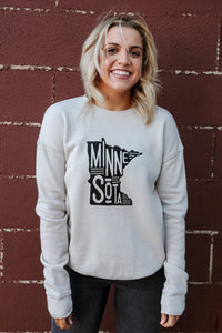 Minnesota Vintage Fleece Pullover 2 - JQ Clothing Co. - Oakes, ND