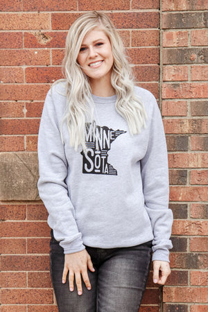 Minnesota Vintage Fleece Pullover 3 - JQ Clothing Co. - Oakes, ND