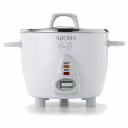 Aroma Rice Cooker ARC-753SG 6 Cup Stainless Steel - VeggieSensations