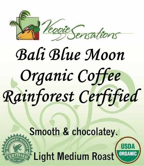 Bali Blue Moon Organic Coffee, Rainforest Certified - VeggieSensations