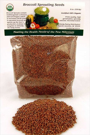 Handy Pantry Organic Broccoli Sprouting Seeds (8 oz)