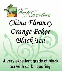 China Black Flowery Orange Pekoe Tea - Loose Leaf - VeggieSensations
