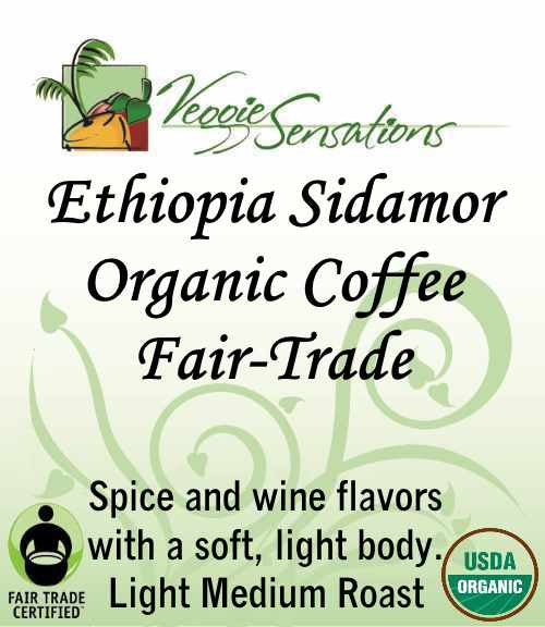 Ethiopia Sidamo Organic Coffee - Fair Trade