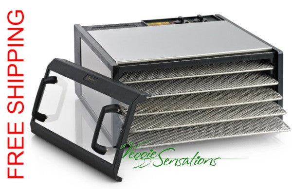 Excalibur Dehydrator D500CDSHD Clear Door Timer SS Trays