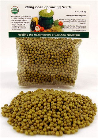 Handy Pantry Organic Mung Bean Seeds (8 oz)