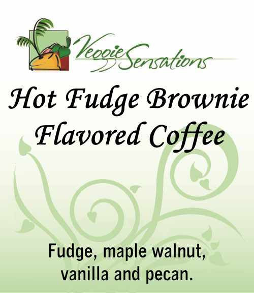 Hot Fudge Brownie Flavored Coffee - VeggieSensations