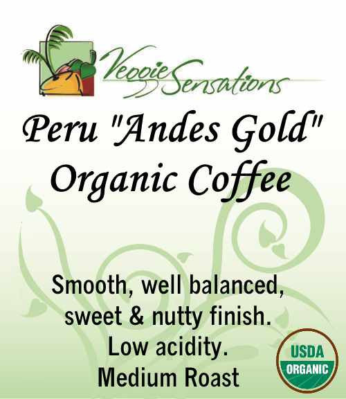 "Peru ""Andes Gold"" Organic Coffee"