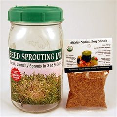 Handy Pantry 1 QT Glass Seed Sprouting Jar - VeggieSensations