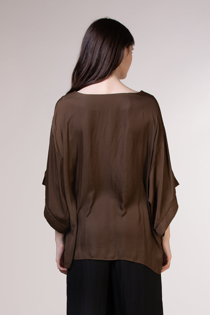 SATIN BOXY TOP  100% POLYESTER IMPORTED